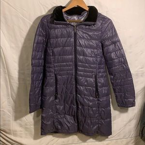 Andrew Marc hooded packable women's jacket